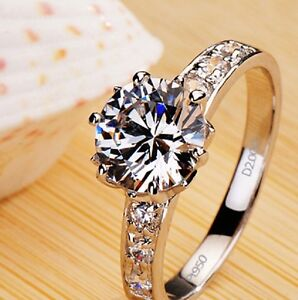 2.5Ct Round Excellent Cut Diamond Solitaire Engagement Ring, 18Ct White Gold