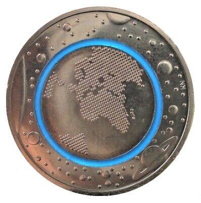 5 Euro Blauer Planet Erde mit Polymer - Ring Bimetall Münze 2016 aus Deutschland