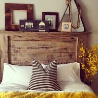 Rustic Weathered Grey Headboard