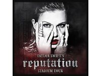 TAYLOR SWIFT Wembley Stadium Friday 22nd June 2018, TWO tickets for sale, good seats!