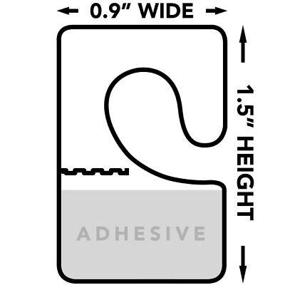 Hang Tabs For Store Display Foldable Plastic Retail Adhesive Hang Tags 500pc