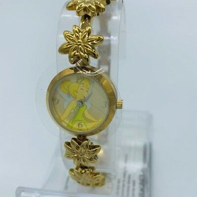 Disney Tinkerbell Flower Link Gold Tone Watch New in Box with Warranty ()