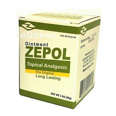 Zepol Analgesic 3 Oz Muscles  Joints  Backache  Strains  Bruises   Sprains Large