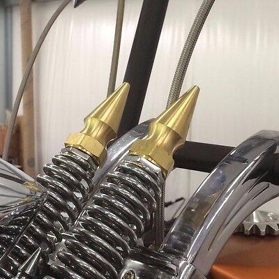Custom Spike Top Nuts fit Harley /& Custom Springer Forks