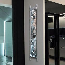 Modern Abstract  Metal Wall Art Sculpture Clock original by Artist Jon Allen