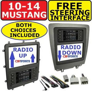 2010-2014 FORD MUSTANG DOUBLE DIN CAR RADIO STEREO DASH KIT TOUCHSCREEN CLIMATE