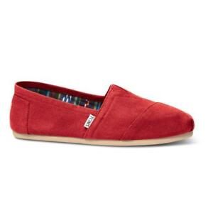 Red Tom shoes     Brand new