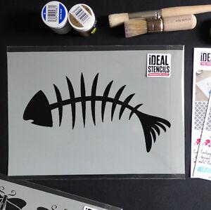 Espina-de-pescado-plantilla-decoracion-casera-de-pared-Nautico-arte-manualidades