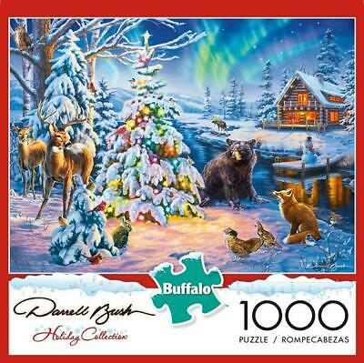 BUFFALO GAMES PUZZLE COUNTRY CHRISTMAS DARRELL BUSH 1000 PCS #11249](Christmas Puzzle Games)