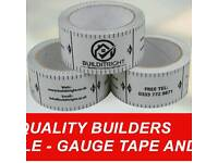 Mm perfect gauge tape far building profiles marked every 75mm and 225mm far block