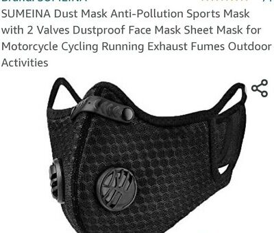 Breath easy-Neck Strap Face Mask with D ventsFilter- outdoor, working,gyms,
