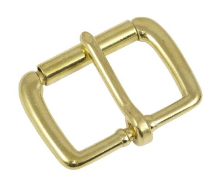 """Springfield Leather Co Solid Brass Single Prong 1-1/2"""" Roller Belt Buckle"""