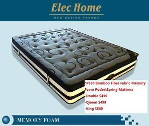 Bamboo Charcoal Fiber Memory Foam 9Zone Pocket Spring Mattress Clayton South Kingston Area Preview