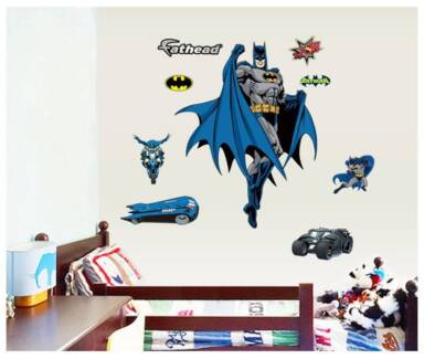 BatMan Or IronMan Removable Wall Sticker Room Decal