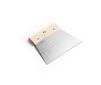Flooring Adhesive A2 V Notched Spreader Trowel Amtico with Wood Handle 18cm