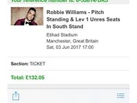 x2 Robbie Williams Tickets (£130 for both)