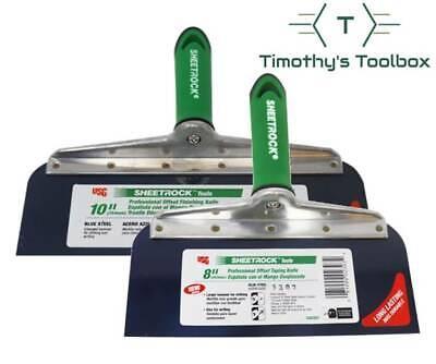 Usg Sheetrock Drywall Offset Taping Knife Combo - 8 10 Blue Steel