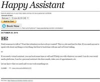 Happy Assistant / Personal Assistant