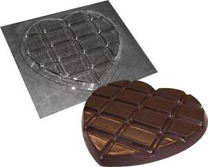 HEART SHAPED CHOCOLATE BAR MOLD VALENTINES MOULDS MOLDS NEW CHOCOLATE MOLDS