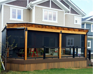 Retractable Motorized Patio & Deck Screen