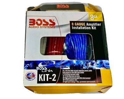 BOSS Audio KIT2 ~ 8 Gauge Complete Car Amplifier Installation Wiring Kit ~ NEW