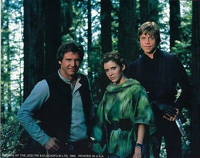 Return Of The Jedi movie photo print - Star Wars, Harrison Ford, Carrie Fisher