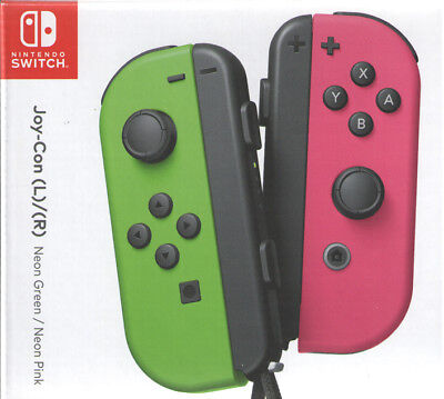 Joy Con Nintendo Switch - Neon Green/Neon Pink (Splatoon Ed) - Ships from USA