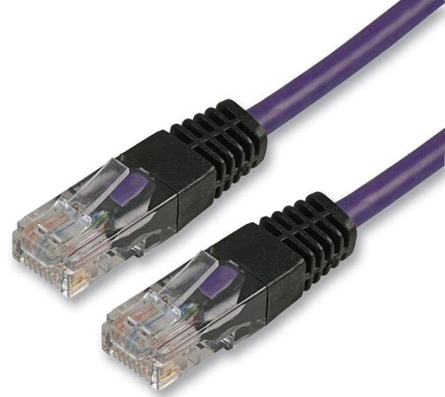 LEAD CAT 5E CROSSOVER 3M VIOLET Cable Assemblies Network Cables