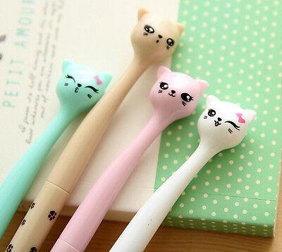 2 x Cute kitten cat fine point pen Party Cute Kids novelty stationery Kawaii