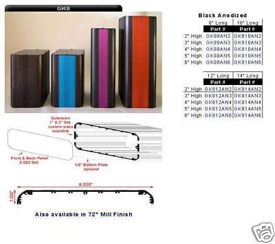 Aluminum Project Box Enclosure 8 X 12 X 2 Gk8-12-2