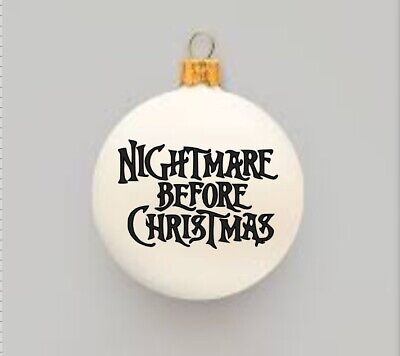 """The Nightmare Before Christmas Inspired DIY Ornament Decal 2.5"""" ()"""