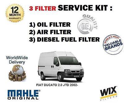 POUR FIAT DUCATO 2.0 JTD 84BHP 02-11 KIT ENTRETIEN FILTRE À CARBURANT AIR HUILE