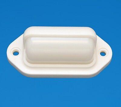 LED Boat/Caravan Light - Companion Way  - White Surround - Amber LEDs - 12V