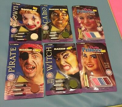 Lot Of 6 Halloween Makeup Kits By Techni faces Paper Magic Lot 2](2 Faces Halloween Makeup)