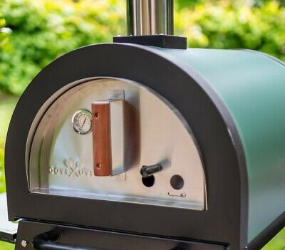 """Cove - Green Machine Stone Base Wood Fired Outdoor Pizza Oven """"WS"""""""