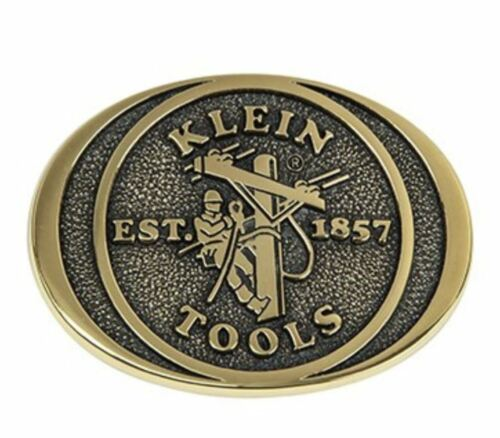 RARE Vintage Klein Tools 100% Solid Brass Belt Buckle Electrician Pliers USA