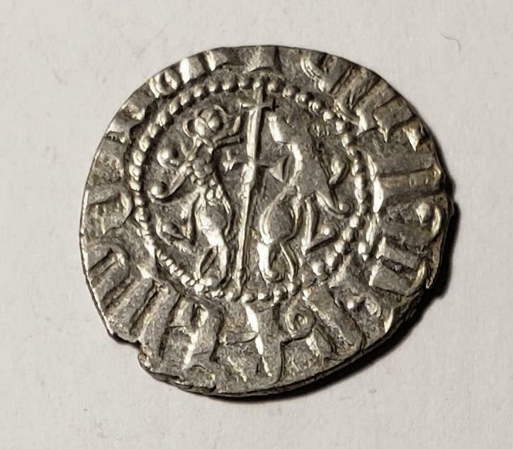 Armenia (Cilici) 1198-1219 Levon I Cross-Lions Silver Tram About Unc (A706)