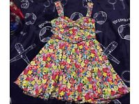 Stunning 50's vintage style summer dress & cut out size 12