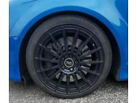 "Rare Audi a4 dtm alloys in black 18"" 5 x112 225 40 18 tyres"