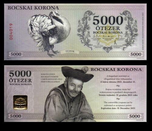 HUNGARY 5000 BOCSKAI KORONA  2017 YEAR LOCAL CURRENCY UNC