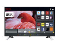 "**Brand New** Toshiba 43U6663DB 43"" Freeview HD and Freeview Play Smart 4K Ultra HD TV - Silver"