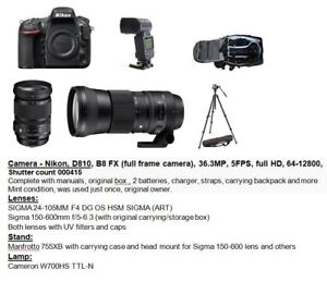 NIKON D810 camera set for sale