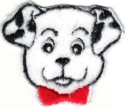 (Cartoon Dalmatian w/ Bow Tie Embroidery Patch)