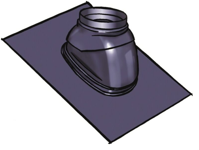 Rinnai 189950 Polymer Rubber Roof Flashing For 1/12 To 6/12 Pitch