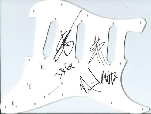 Three Days Grace autographed guitar pickguard