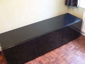 Tvilum Monaco Combination 45 (79703) TV and AV Cabinet in Gloss Black
