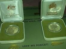 1990 ANZAC 75th Anniv. 2x $5 Coins Proof Set. 1 x AUST + 1 x N.Z. Wembley Cambridge Area Preview