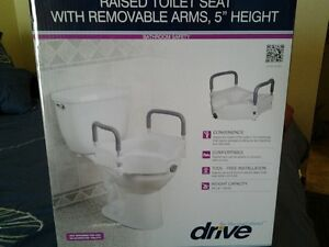 NEW IN BOX RAISED TOILET SEAT SAFETY HANDLES