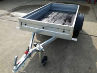NEW Car trailer camping 750kg Single axle 6ft x 4ft