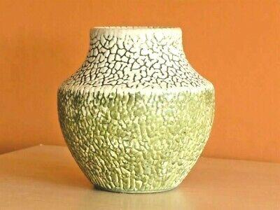 Rare vase années 40 art-déco surface texturée - rare vintage 40s vase